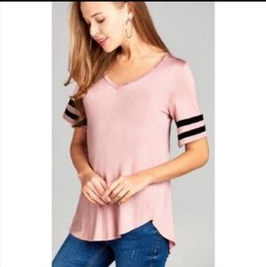 Couture Gypsy Varsity Tee Pink